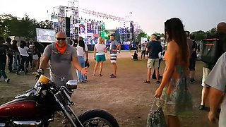 NO PANTIES at BIKE SHOW(part 2) # Show off FUN in March(before Quarantine)