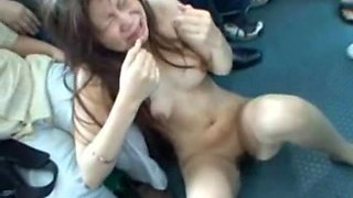 Young woman abused in a bus