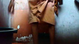 Young Bangladesh guy keep a hidden cam in bathroom before