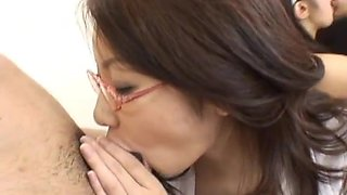 Cute Japanese doll gets plenty of sex action