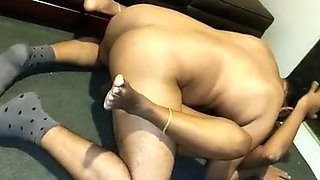 indian wife shared with hubby's friend(on floor) - part 1