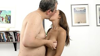 Old Goes Young - Talented cutie pleases old dick