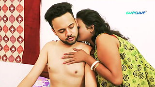 Indian stepmom with big boobs has sex with son