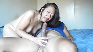 Chinese wife love to engulf and fuck two