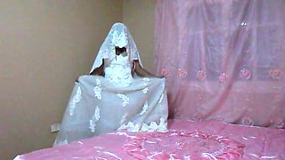 A bride dances and then gets naked