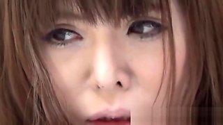 Young Japanese vixen soaking her panties up with pee
