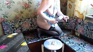 vegetables and cream eat big ass busty milf. farting