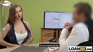 huge tits consumer needs a loan after chrashing husbands car