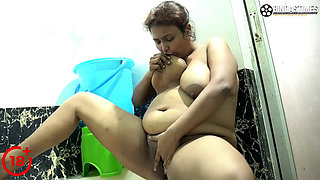 Indian Busty BBW MILF Suchorita Completely Nude and Taking Shower