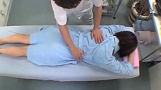 Jap slut drilled to squirting in hidden camera massage clip