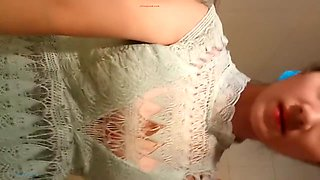 Lonely Chinese girl lujia.liu masturbating in the toilet