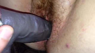 First time welsh gf took  dildo