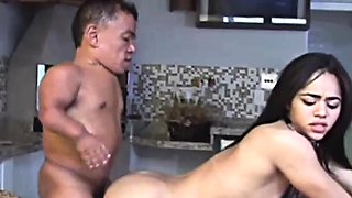 Horny Midget Shagging Asian Babe