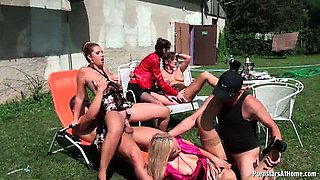 Piss party at the pool