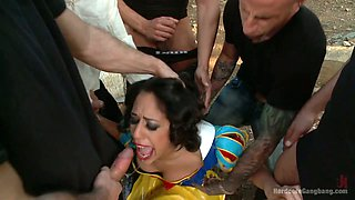 Snow White and the Seven Dwarfs porn parody featuring Lyla Storm