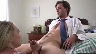 Secretary blowing boss