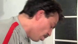 Teenie weenie sex puppet pleasuring a daddy cock