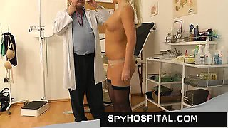 Gorgeous girl at gyno doctor hidden cam video