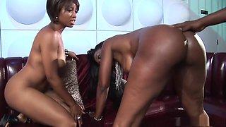 Incredible pornstar Nyomi Banxxx in amazing black and ebony, threesome sex movie