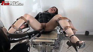 Hot slave gets dildo fucked by mistress
