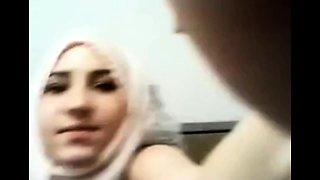 Arab muslim Inaya toying at home