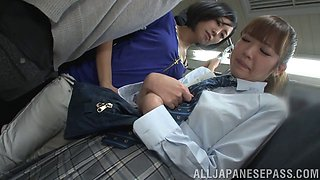 Hairy pussy Japanese amateur chick gets fingered by Uta Kohaku
