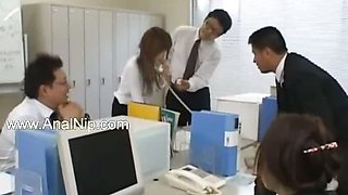 Asian secretary from asian with ass milk