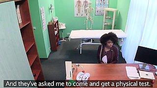 Fake Hospital Doctor gives sexy ebony Brazilian studen