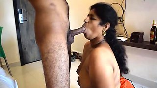 Desi mom sucking and fucking son friends