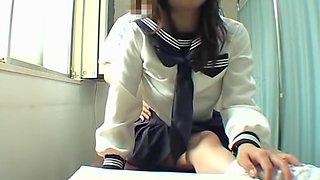 Perfect Jap slut enjoys a kinky massage in hidden cam video