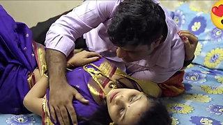 Young wife has affair, saree sex