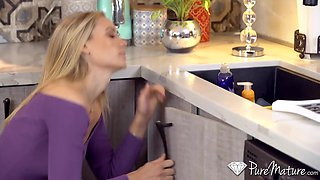 Plumber's visit leads to some steamy sex and Addie Andrews is so horny