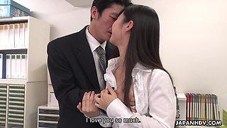 Grown up student Tomomi Motozawa gives a blowjob to her first teacher