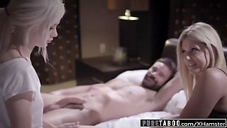 Pure taboo pervert parents fuck shy 18yo foster daughter