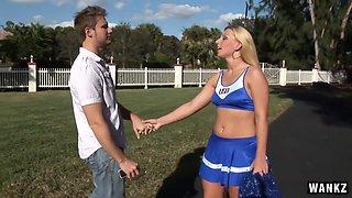 Cheerleader Hookup Ends Internally