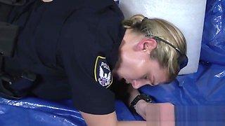 Bad police MILFs deserve brutal doggy style interracial