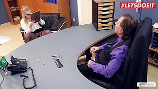 LETSDOEIT - Cute Teen Secretary Scarlett Scott Seduces Boss