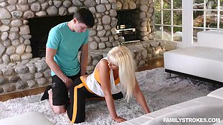 marie mccray and her stepson fuck in clothes after jogging