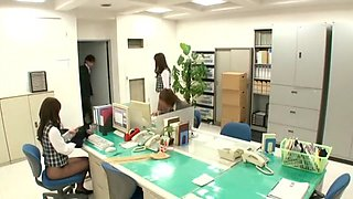 Exotic Japanese whore Sae Aihara, Imai Natsumi, Megumi Shino in Amazing Cunnilingus, Facial JAV movie