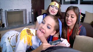 Hot Step Sister And Best Friends Cosplay Fucked By Brother Before Comic Con