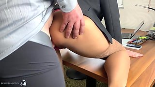 Boss Uses Desirable Secretary And Fills Her Pussy