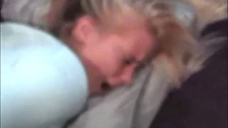 Amateur Blonde Creampied on Real Homemade