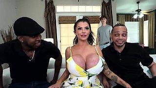 Busty Stepmom Joslyn James Gets DPd By Big Black Cocks