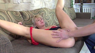 Sexy russian milf mature mother and boy