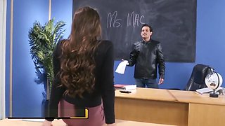 Brazzers - Big Tit teacher Abigail Mac gives student some Discipline
