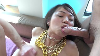 Asian Whore Squirts From Deep Double Penetration
