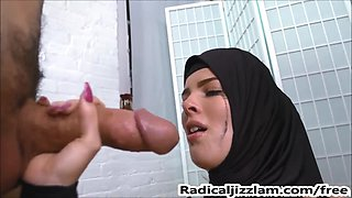 Blue eyed cutie face fucked hard by her Caliph