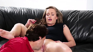 Family strokes blonde crony' compeer's sister first time