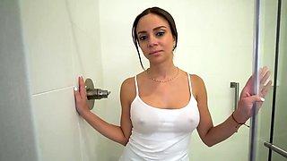Caught jerking in my stepmoms bathroom