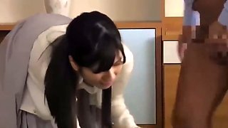 Young japanese housewife fucked by older man